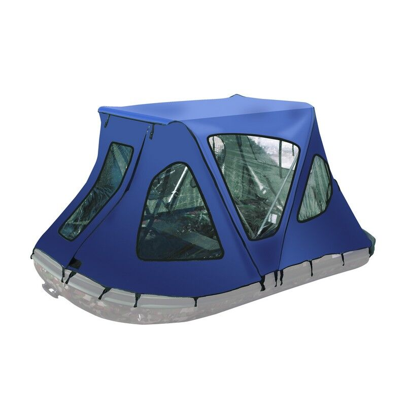 Winter Canopy Boat Rain Sun Wind Snow Waterproof Covering 2 Person Tent Color: Blue