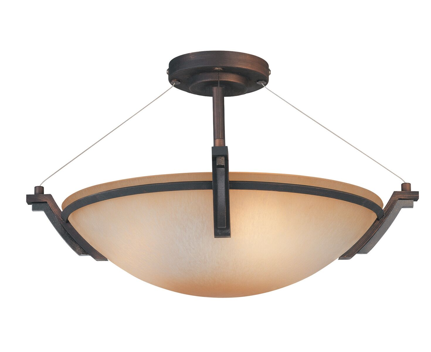 Hogle 3-Light LED Semi Flush Mount Fixture Finish: Oil Rubbed Bronze