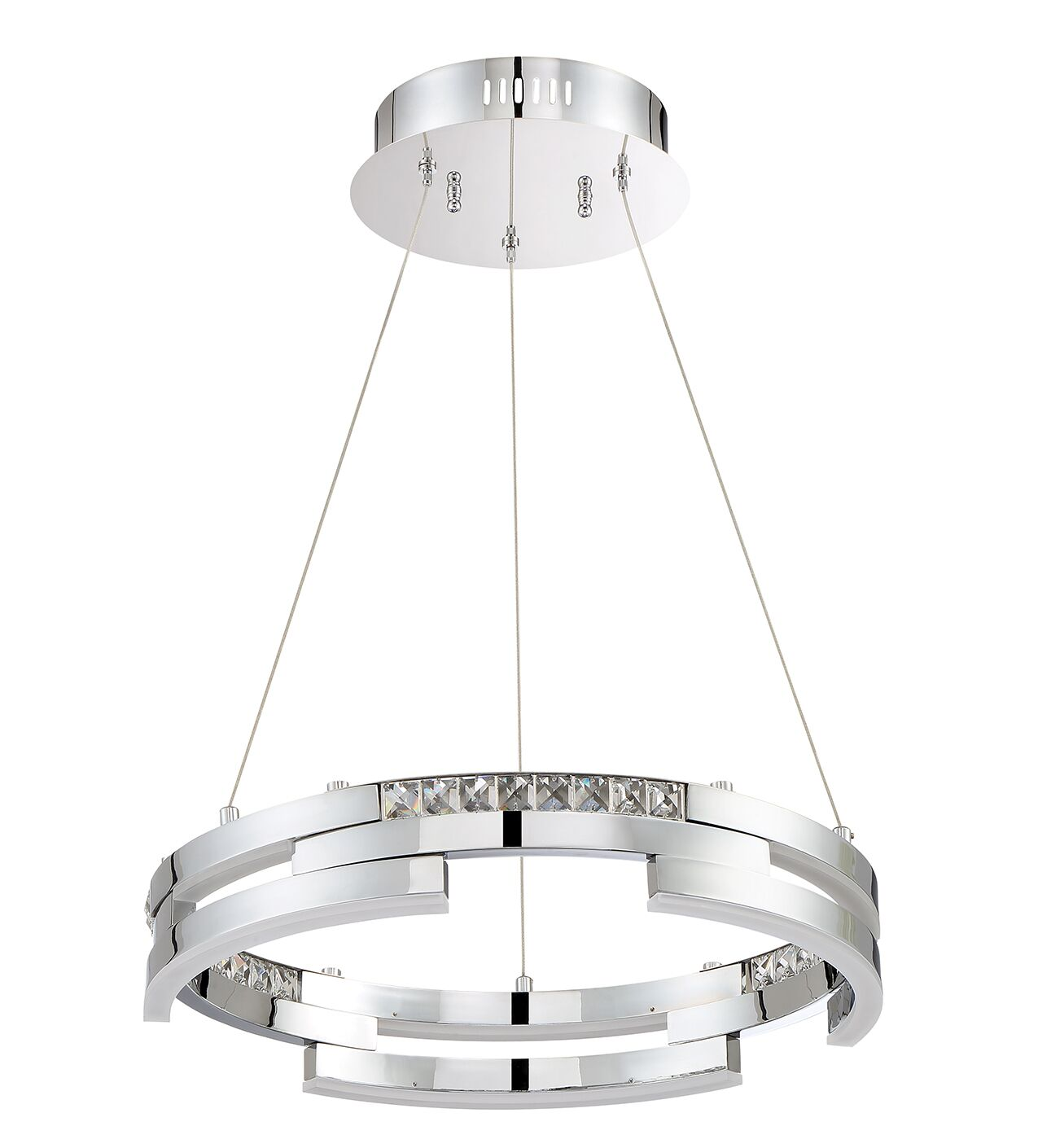Hoelscher Geometric Pendant Finish: Black Stainless