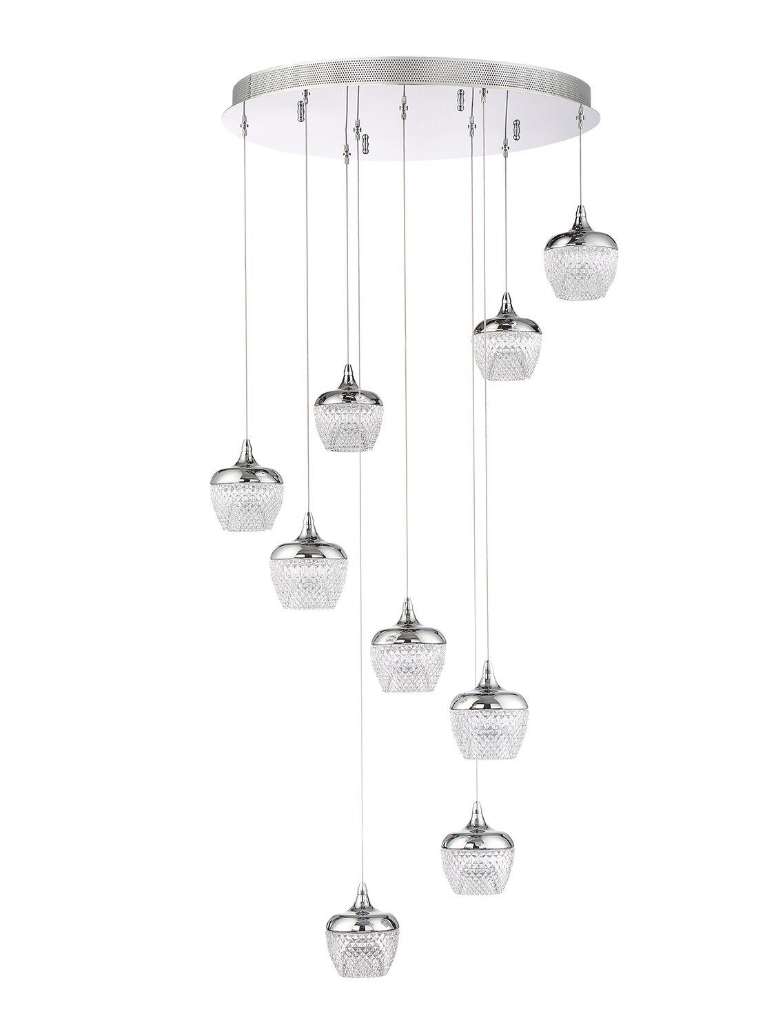Schneider 9-Light Cluster Pendant Finish: Black Stainless