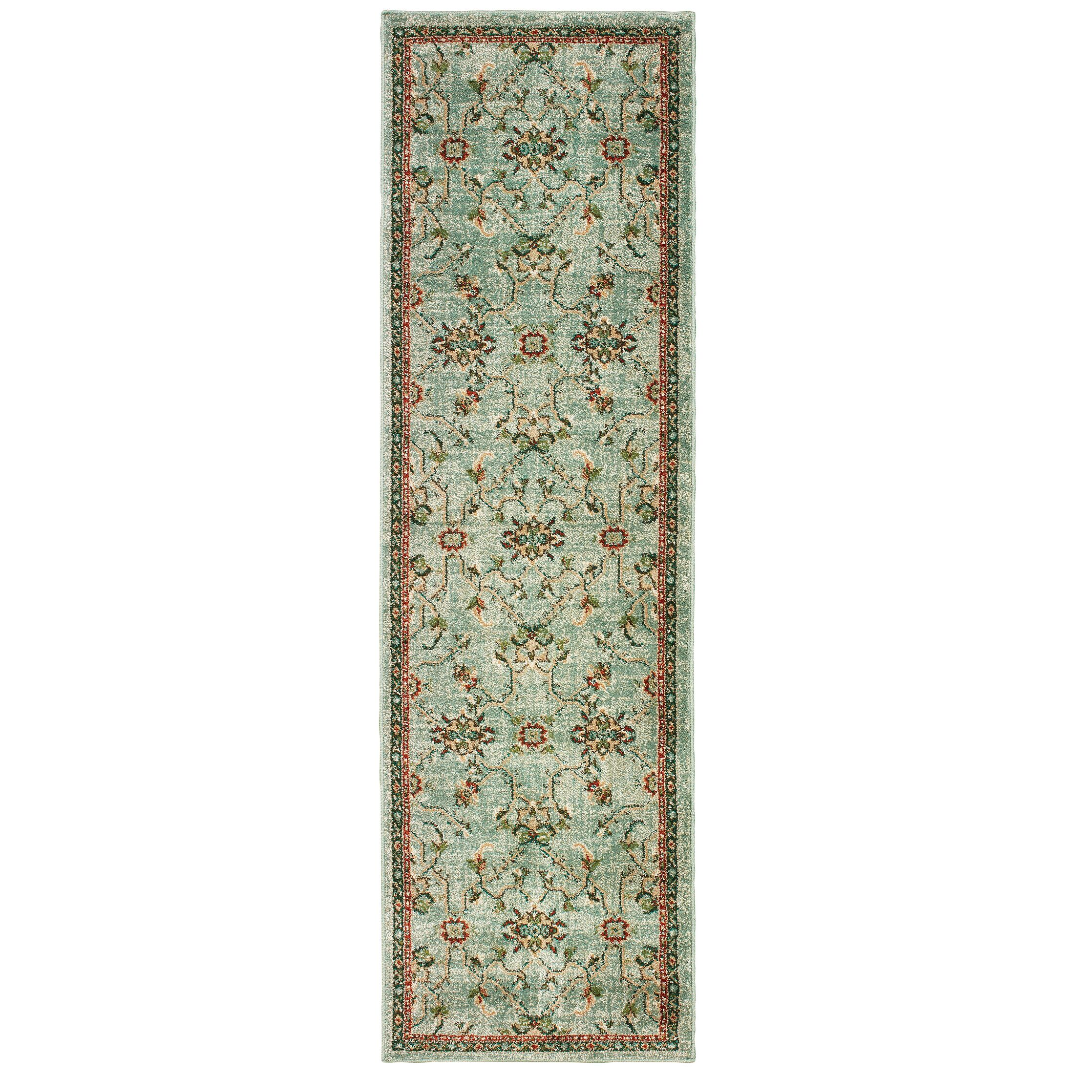 Hedberg Traditional Floral Mint Green/Beige Area Rug Rug Size: Rectangle 6'7