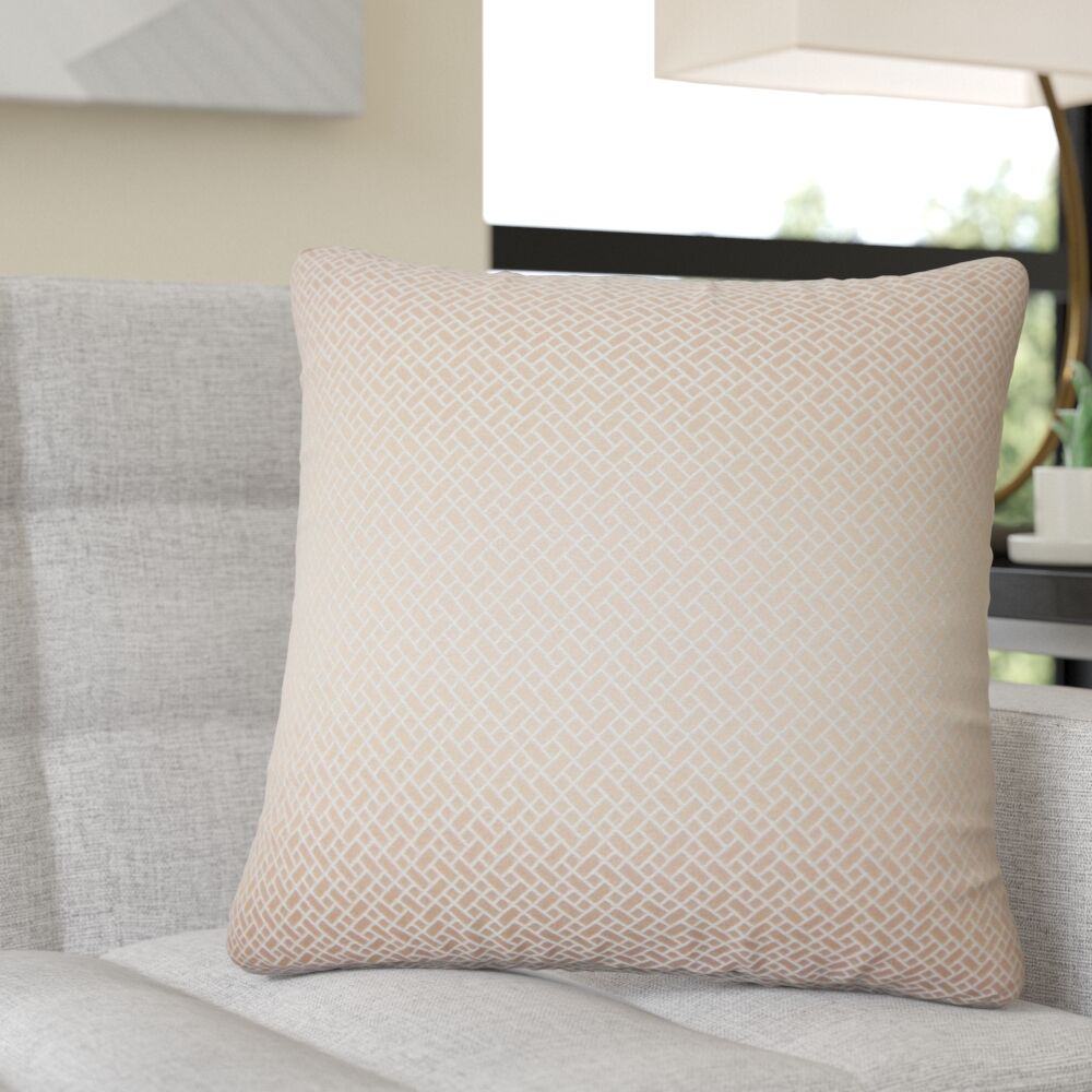Reeser Geometric Throw Pillow Color: Blush