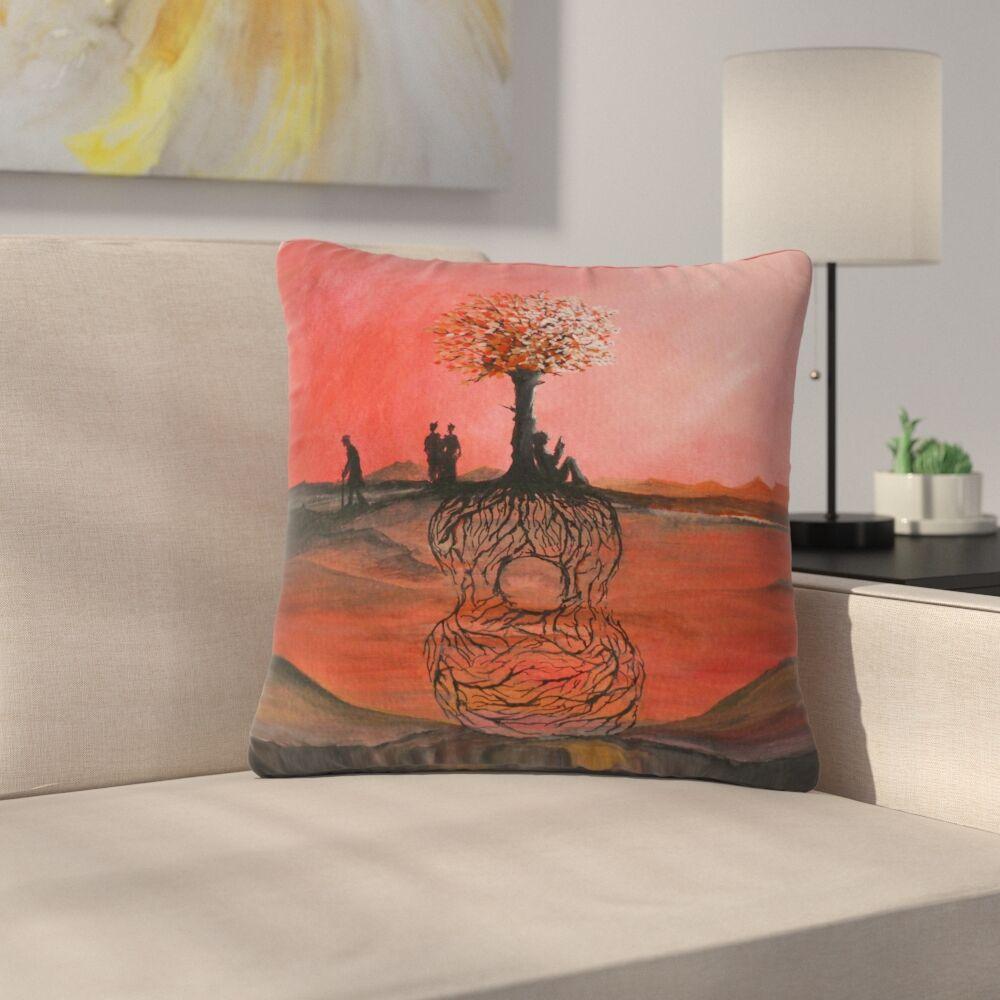 Viviana Gonzalez Art Name Outdoor Throw Pillow Size: 18