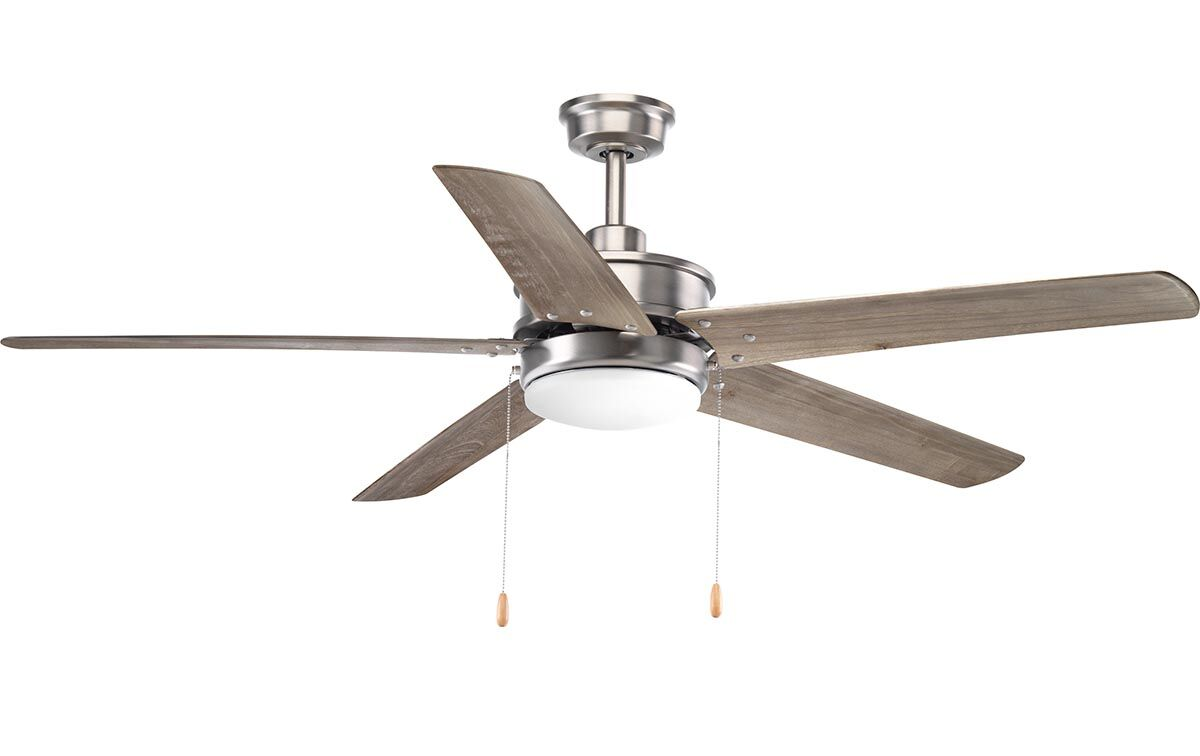 Vanegas 5 Blade Outdoor Ceiling Fan Finish: Chrome with Antique Bronze Blades