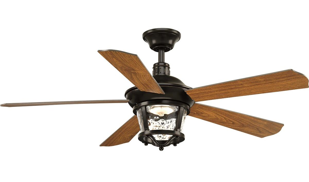 Mueller 5 Blade Outdoor Ceiling Fan Blade Color: Antique Bronze