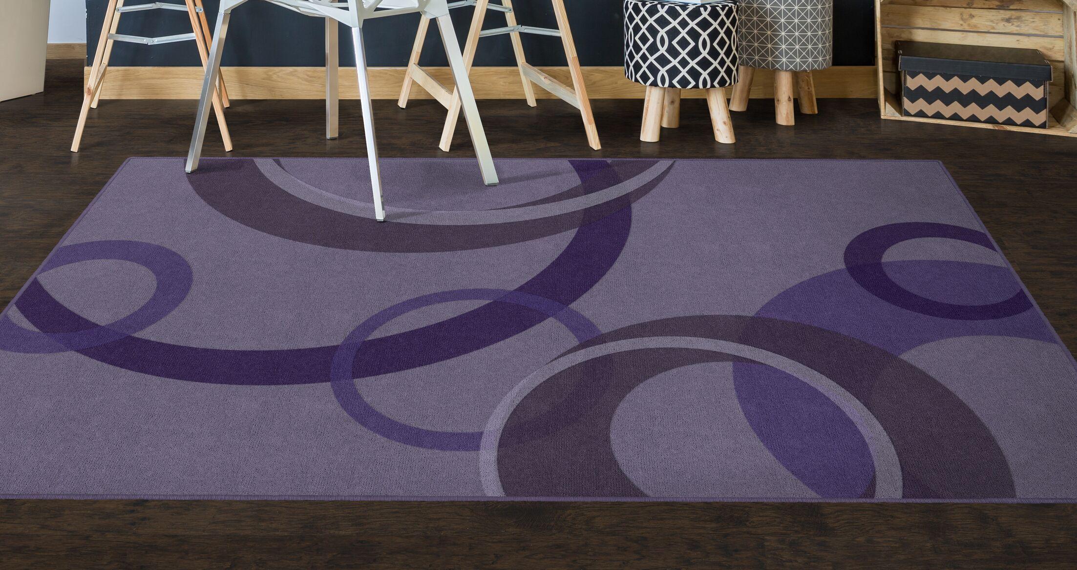 Jakarta Contemporary Geometric Purple Area Rug Rug Size: Rectangle 5' x 8'