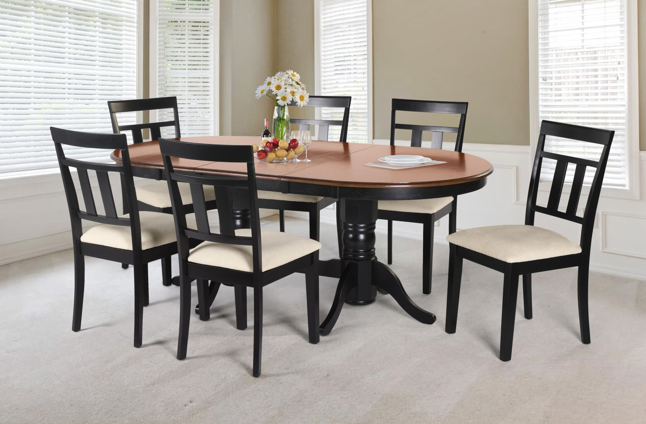 Dining Table Sets Dahlstrom 7 Piece Solid Wood Dining Set