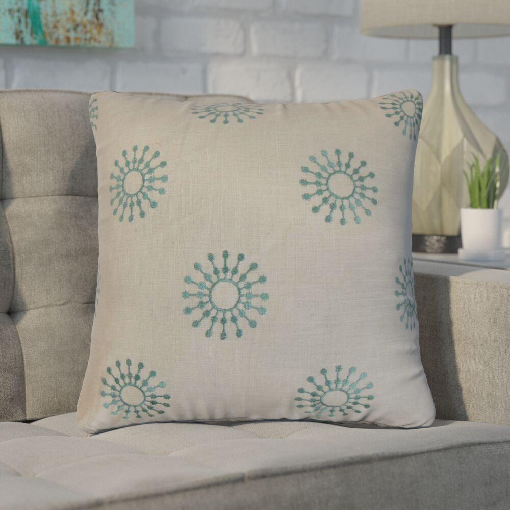 Emrich Floral Cotton Throw Pillow