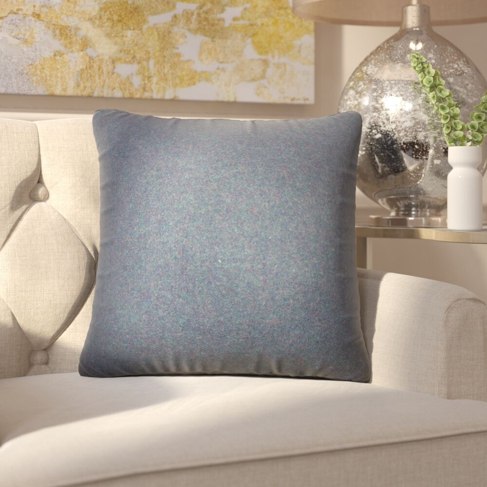Ambriz Solid Throw Pillow Color: Blue
