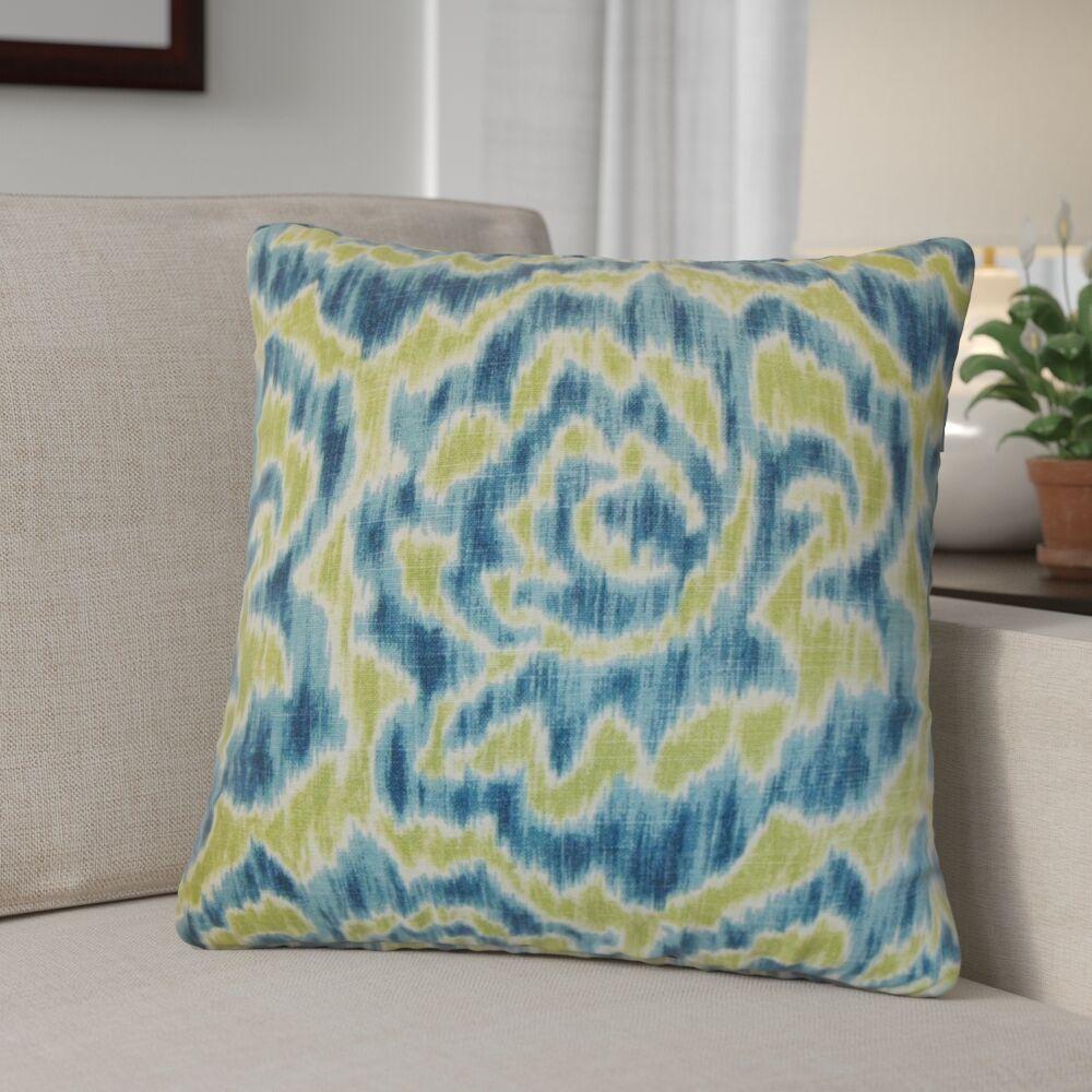 Arsenault Throw Pillow Color: Aqua Green, Size: 20