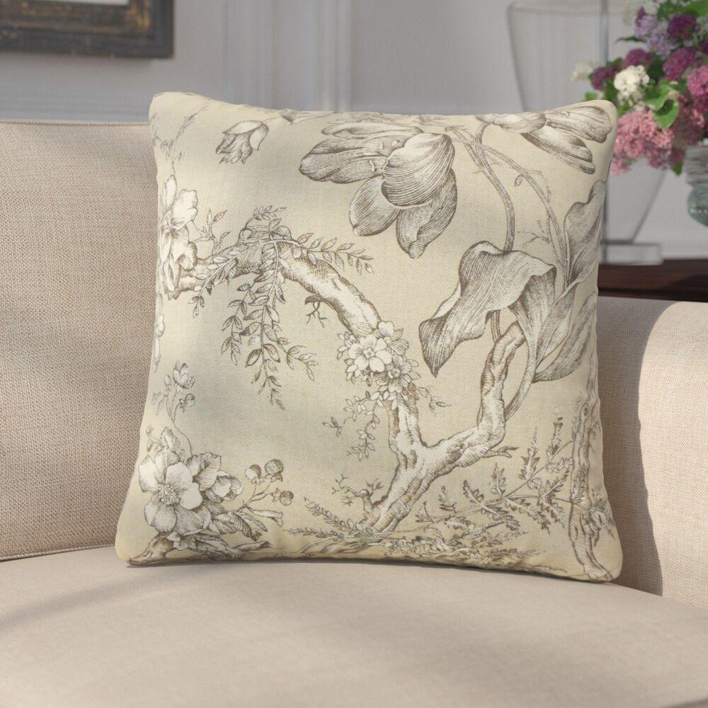 Gudrun Floral Cotton Throw Pillow
