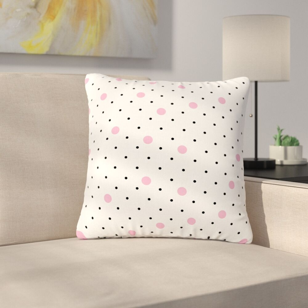 Project M Pin Points Polka Dot Outdoor Throw Pillow Size: 16