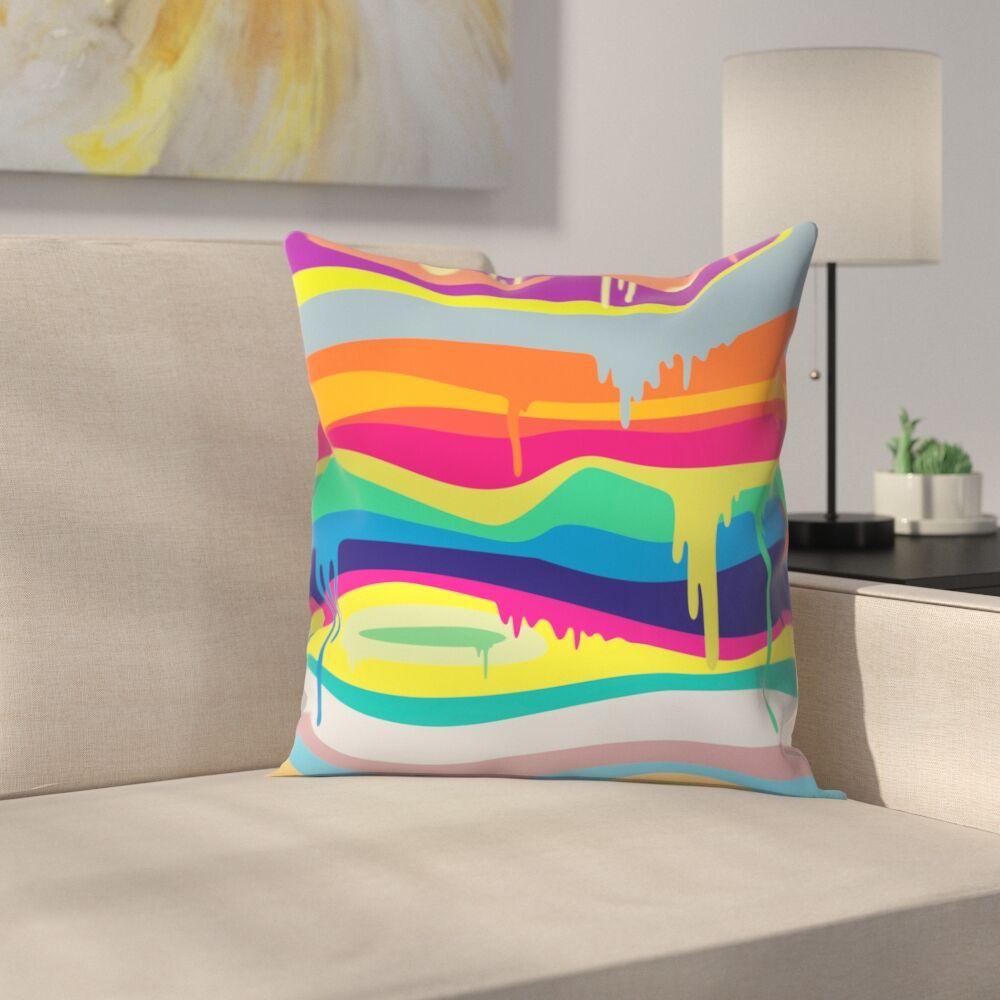 Joe Van Wetering Melt on Throw Pillow Size: 20