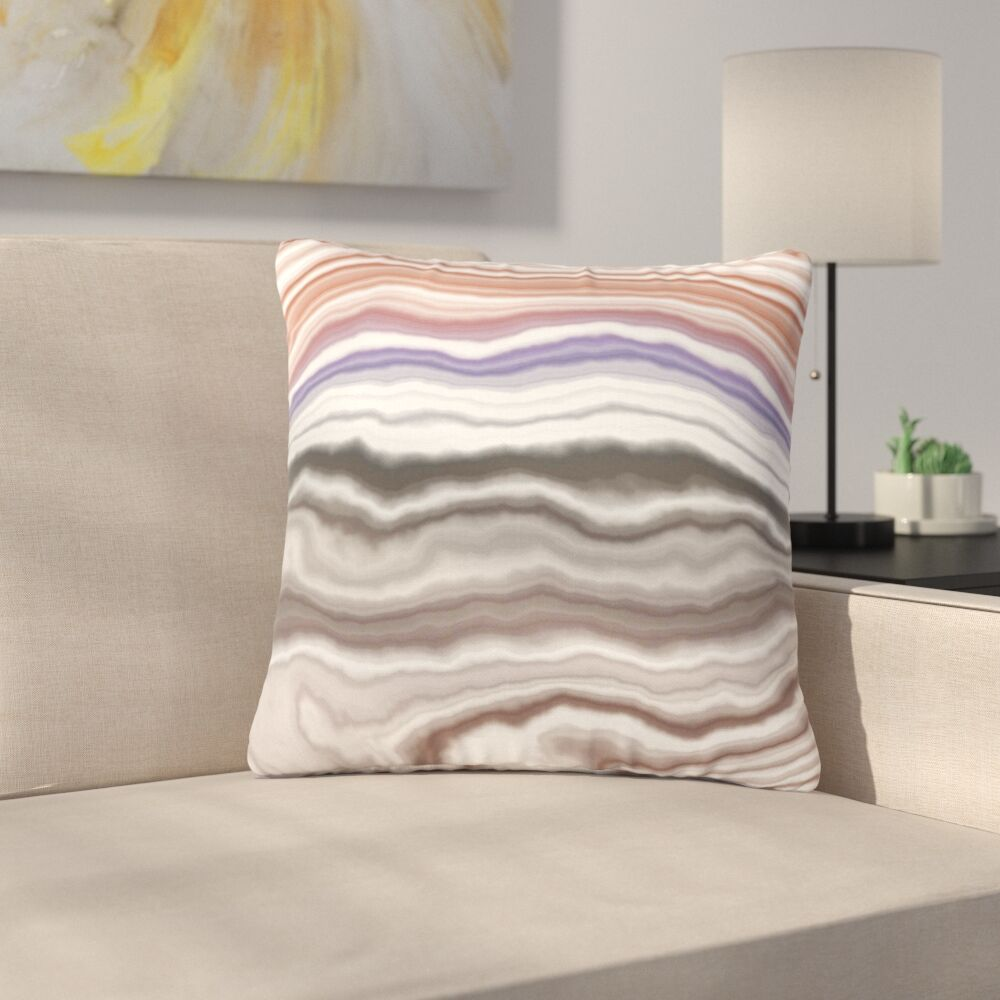 Iris Lake Bed Geological Abstract Outdoor Throw Pillow Size: 18