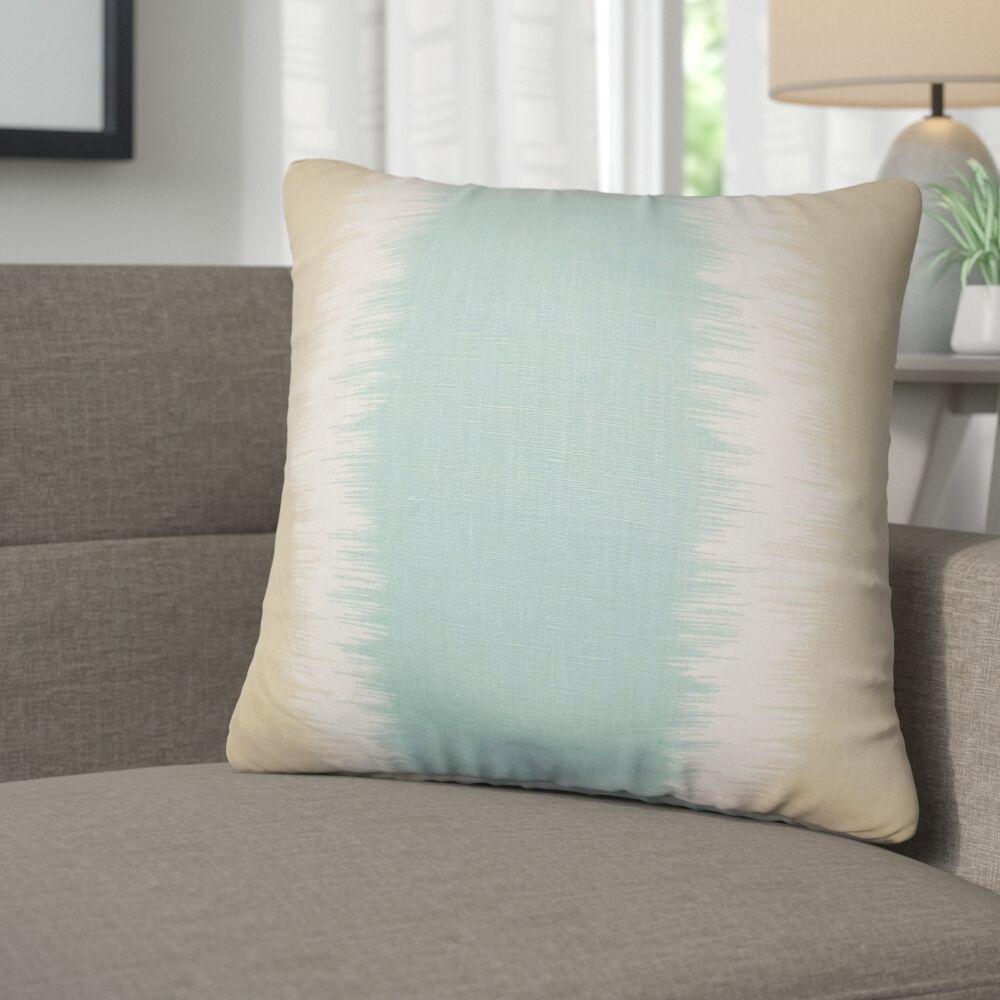 Kimora Geometric Linen Throw Pillow Color: Tan