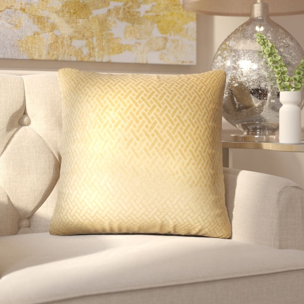Pawel Solid Down Filled Throw Pillow Size: 22