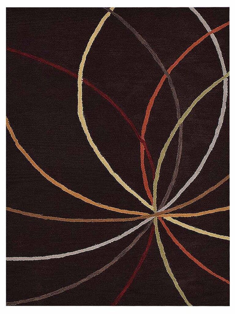 Johansson Geometric Hand-Tufted Wool Brown Area Rug Rug Size: Rectangle 5' x 8'