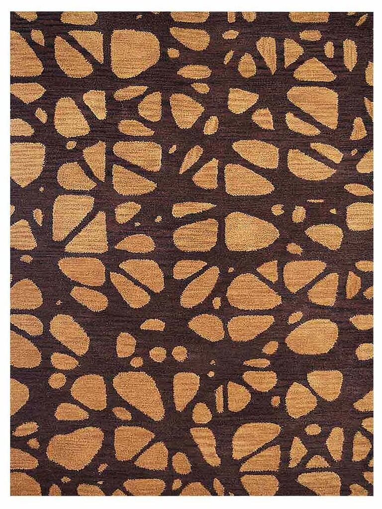 Johnathon Contemporary Hand-Tufted Wool Brown/Beige Area Rug Rug Size: Rectangle 8' x 10'