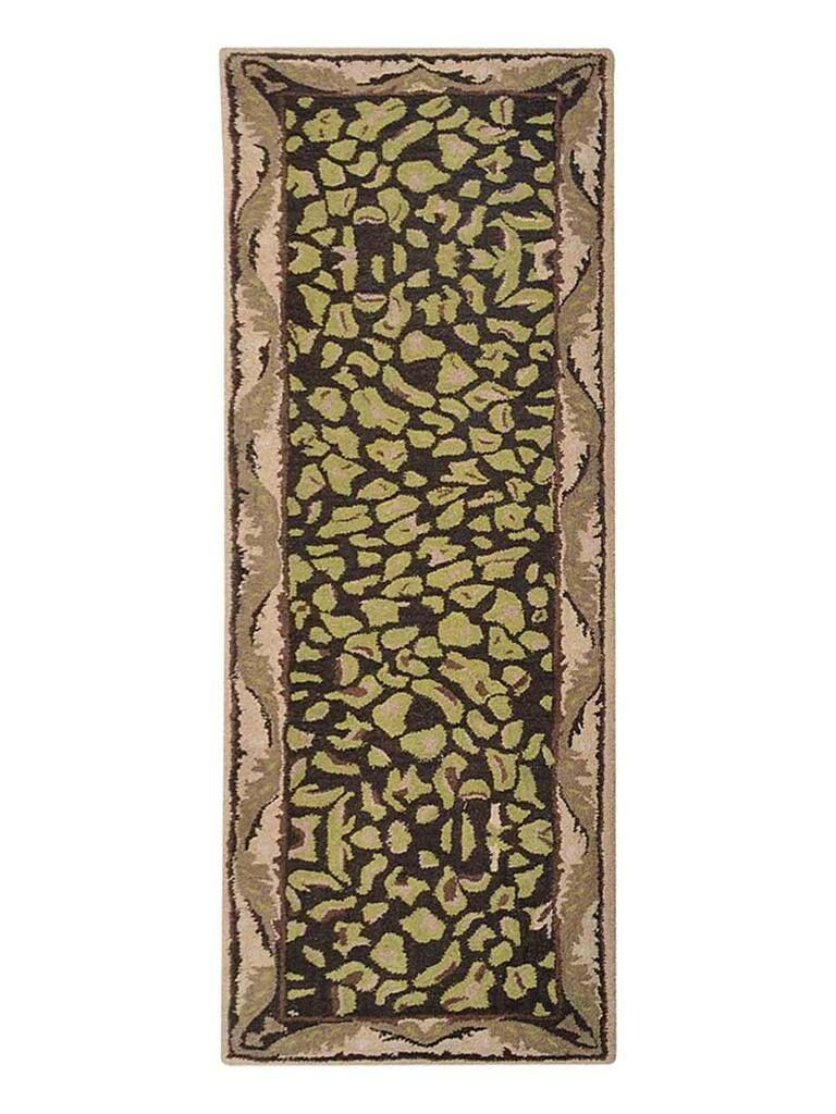 Hetzel Vintage Hand-Tufted Wool Brown/Beige Area Rug Rug Size: Runner 2'6