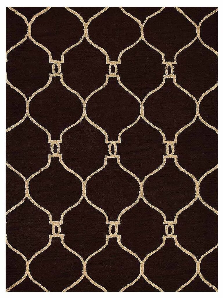 Creasey Geometric Hand-Tufted Wool Brown/Beige Area Rug Rug Size: Rectangle 5' x 8'
