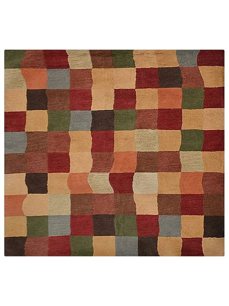 Tullos Carpet Hand-Tufted Wool Green/Red Area Rug Rug Size: Square 6'