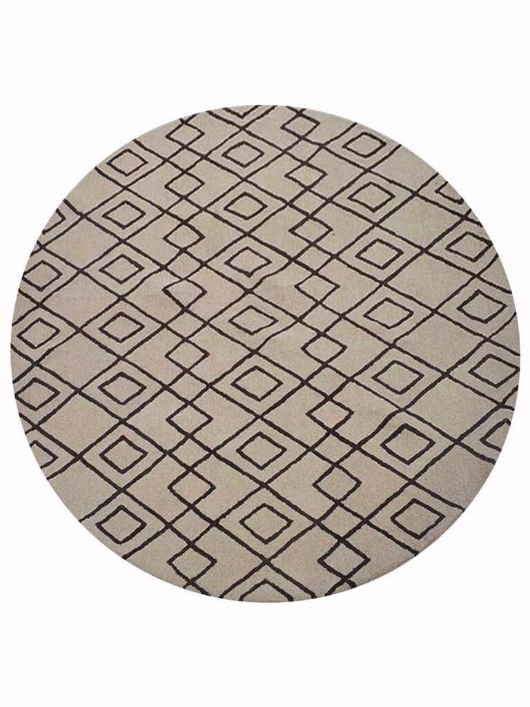 Cheswick Geometric Hand-Tufted Wool Cream/Brown Area Rug Rug Size: Rectangle 9' x 12'