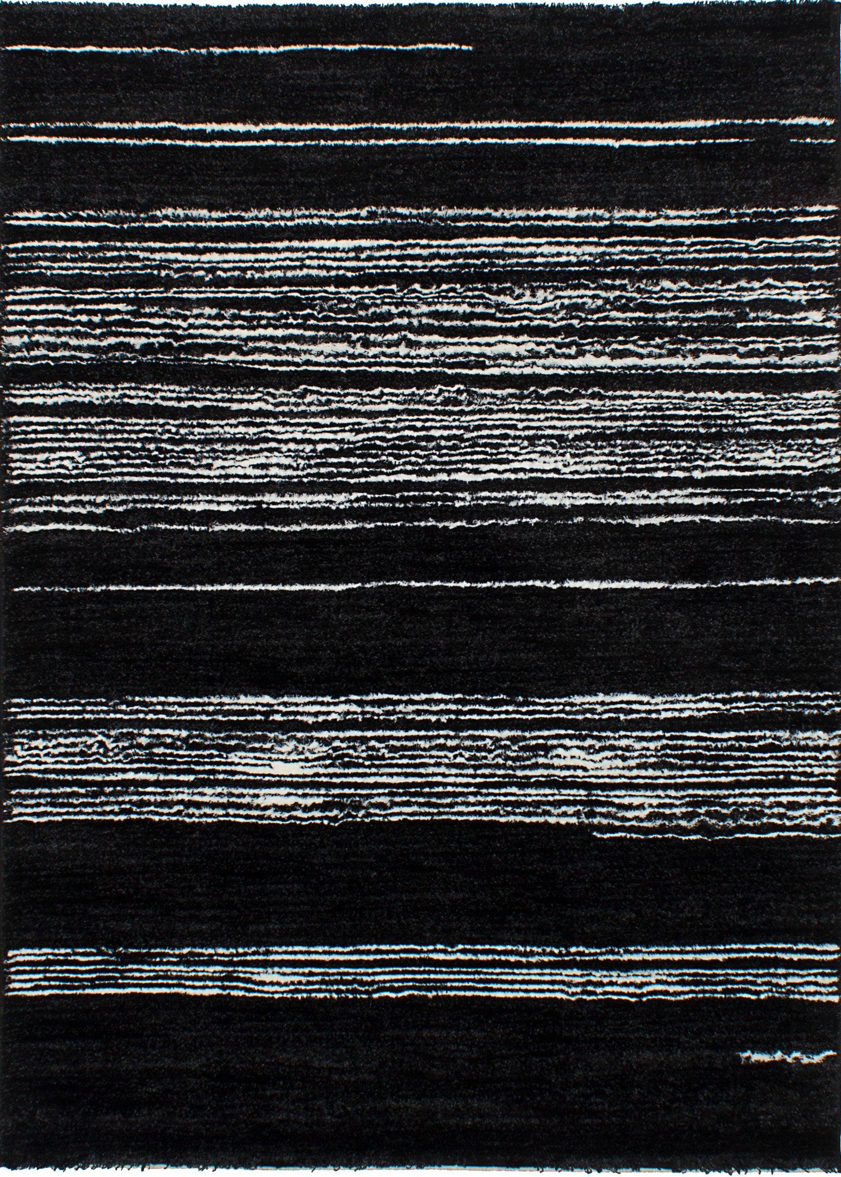 Gentner Black/White Area Rug