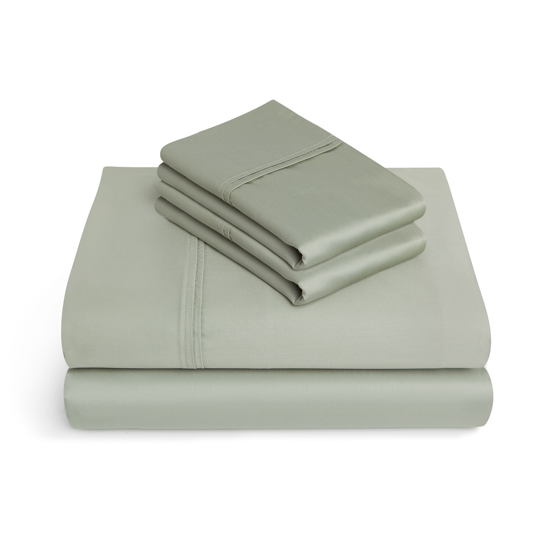 Craney 625 Thread Count 4 Piece 100% Cotton Sheet Set Color: Fern Green, Size: Queen