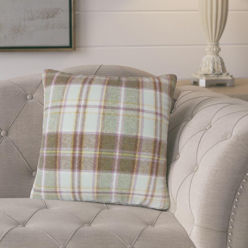 Tschaenn Plaid Throw Pillow Color: Brown