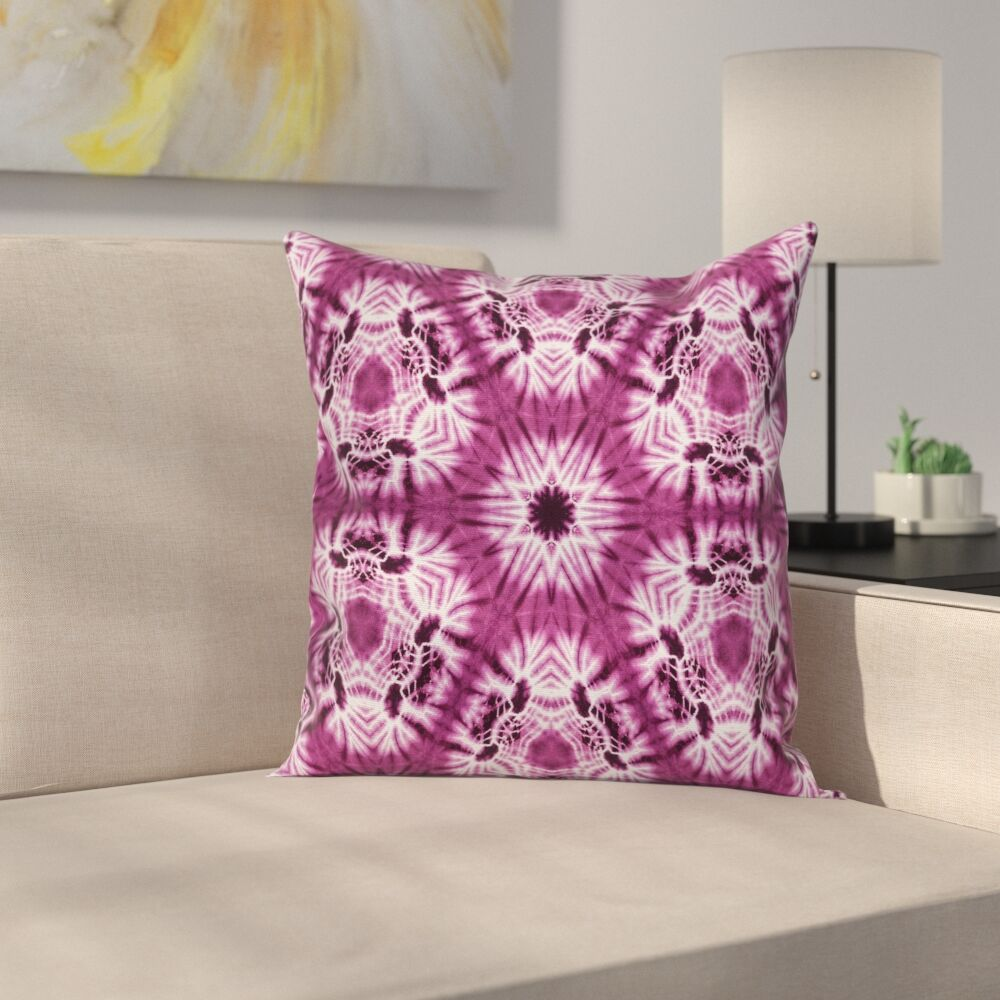 Oriental Artsy Square Pillow Cover Size: 24