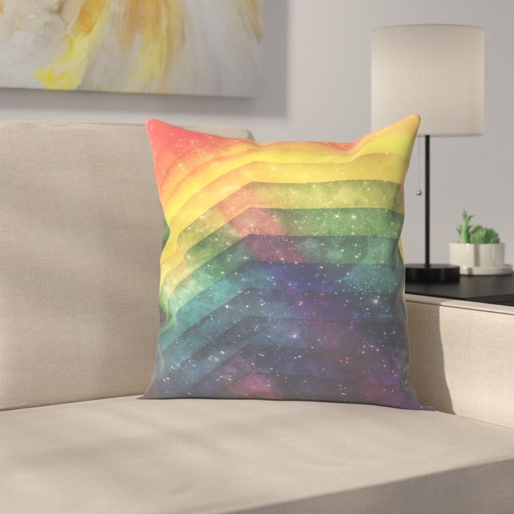 Time and Space Throw Pillow Size: 18