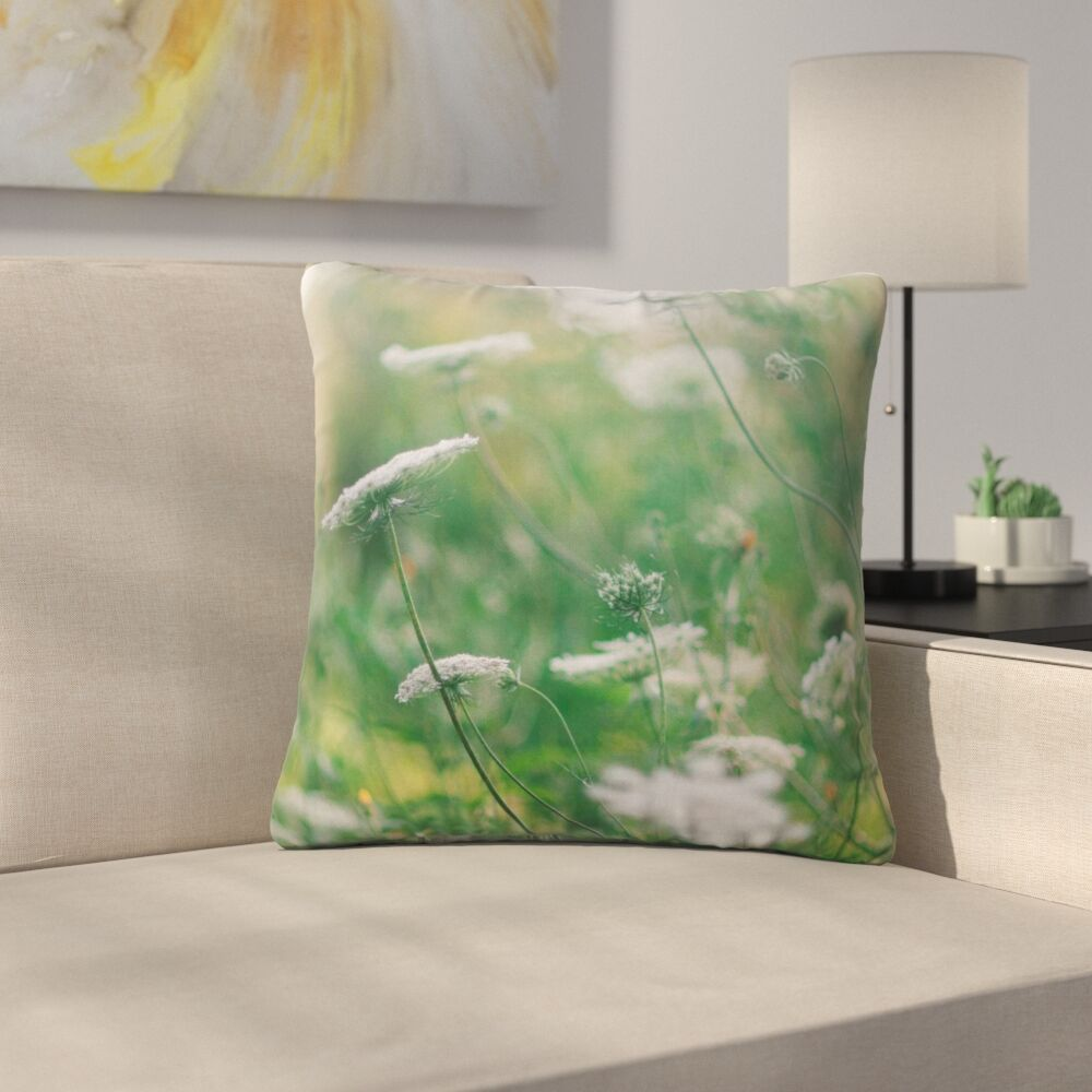 Queen Ann Floral Nature Outdoor Throw Pillow Size: 16