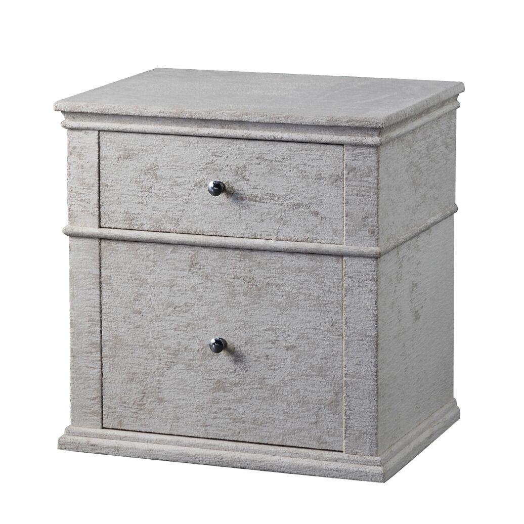 Crick Upholstered 2 Drawer Nightstand Color: Beige