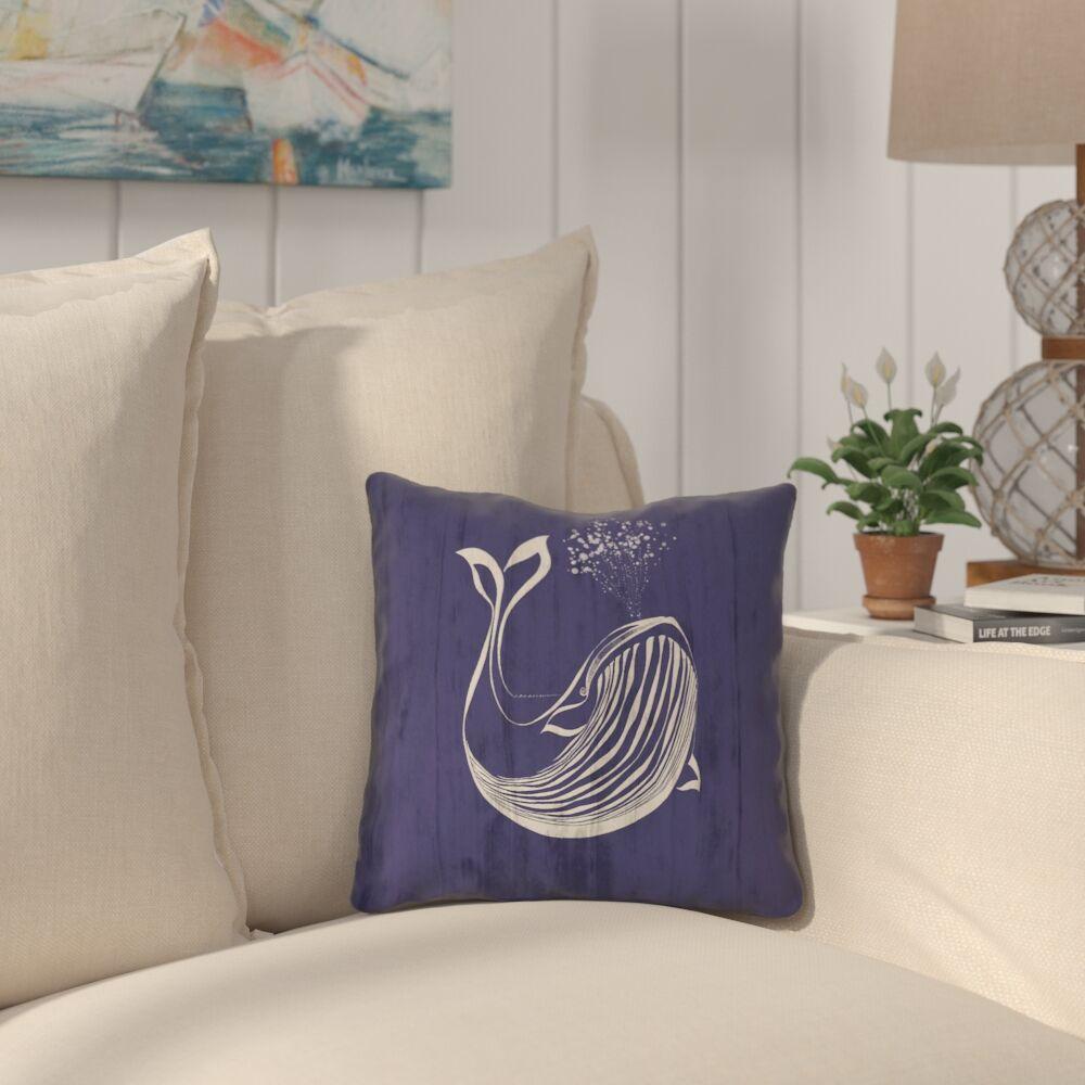 Lauryn Whale 100% Cotton Pillow Cover Size: 18