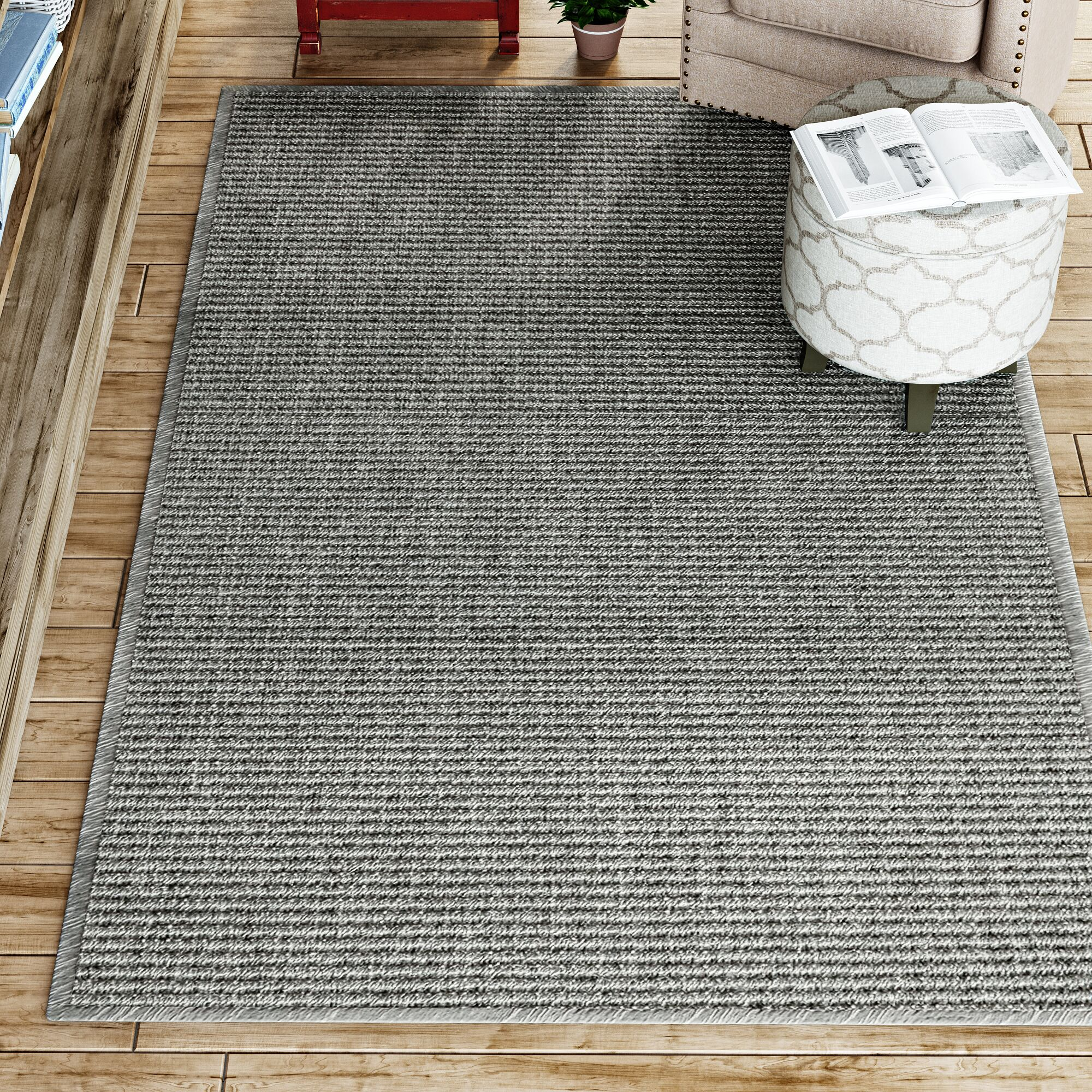 Paquerette Gray Area Rug Rug Size: 10' x 14'