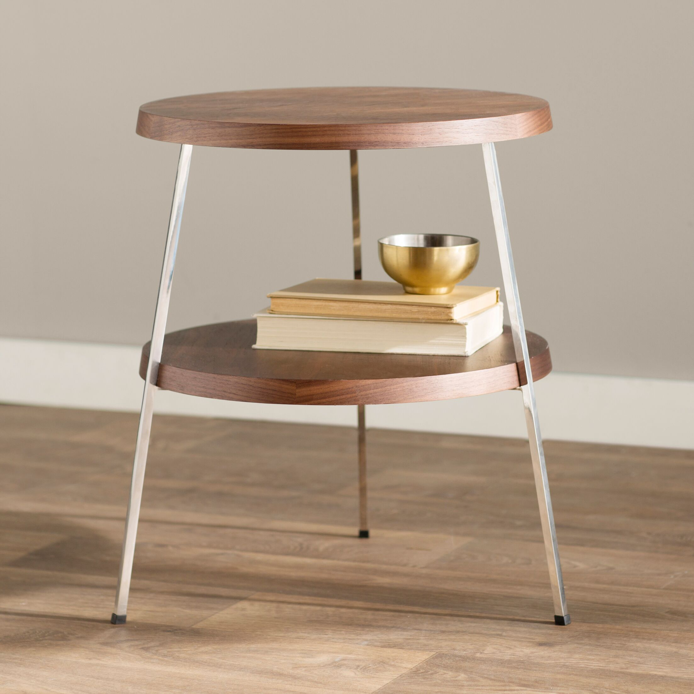 Plotinus End Table Color: Walnut