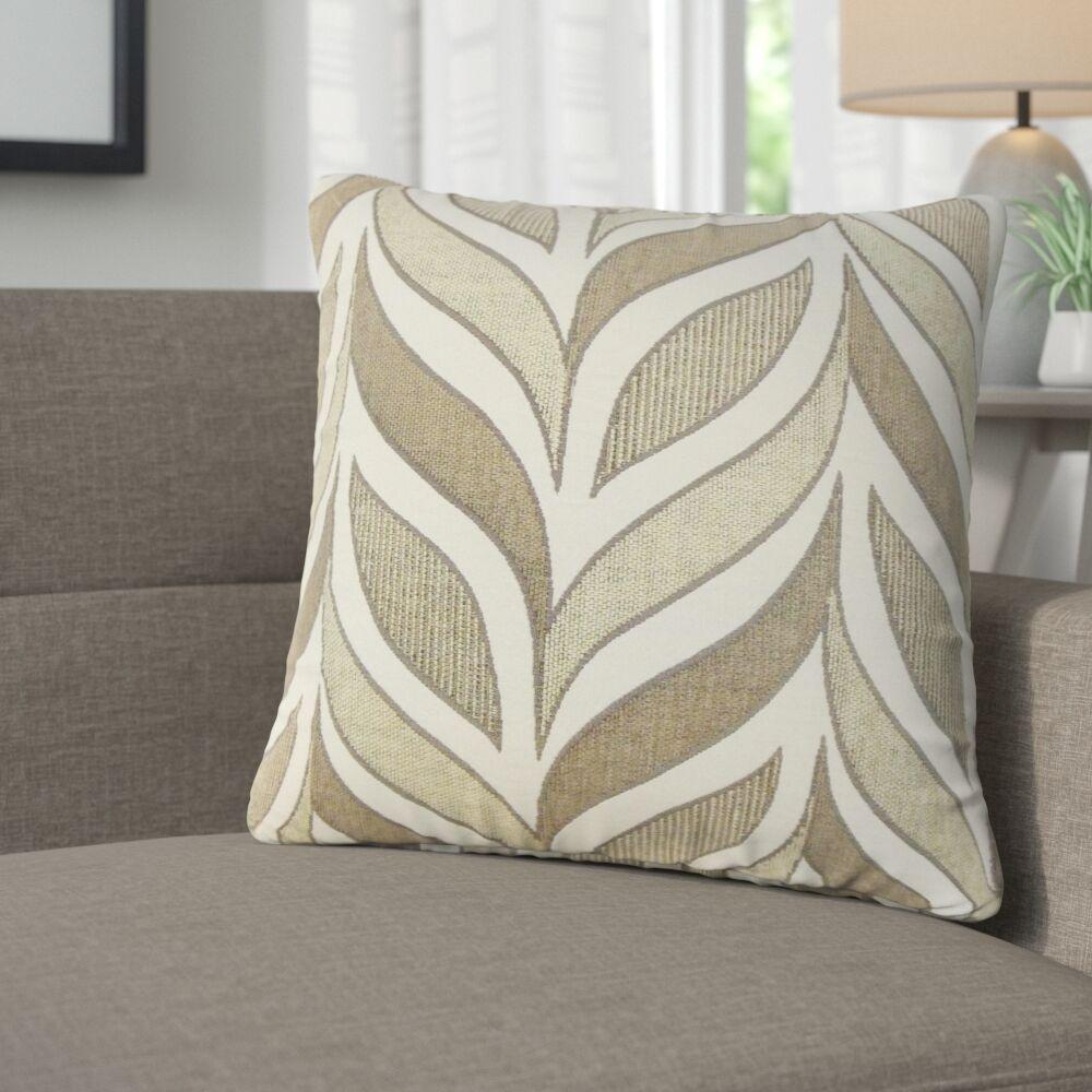 Mariyah Geometric Throw Pillow Color: Driftwood