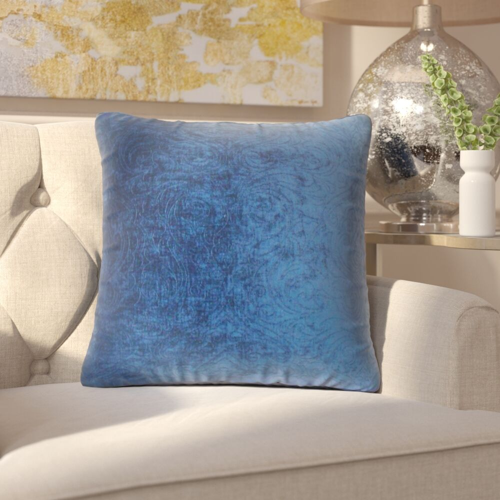 Jayde Solid Throw Pillow Color: Sapphire