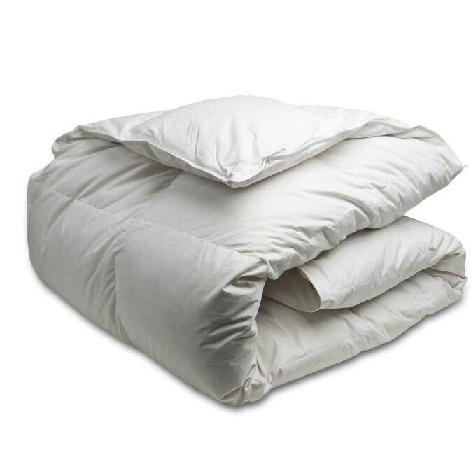 White Goose Down Duvet Size: King XL, Fill Warmth: Medium