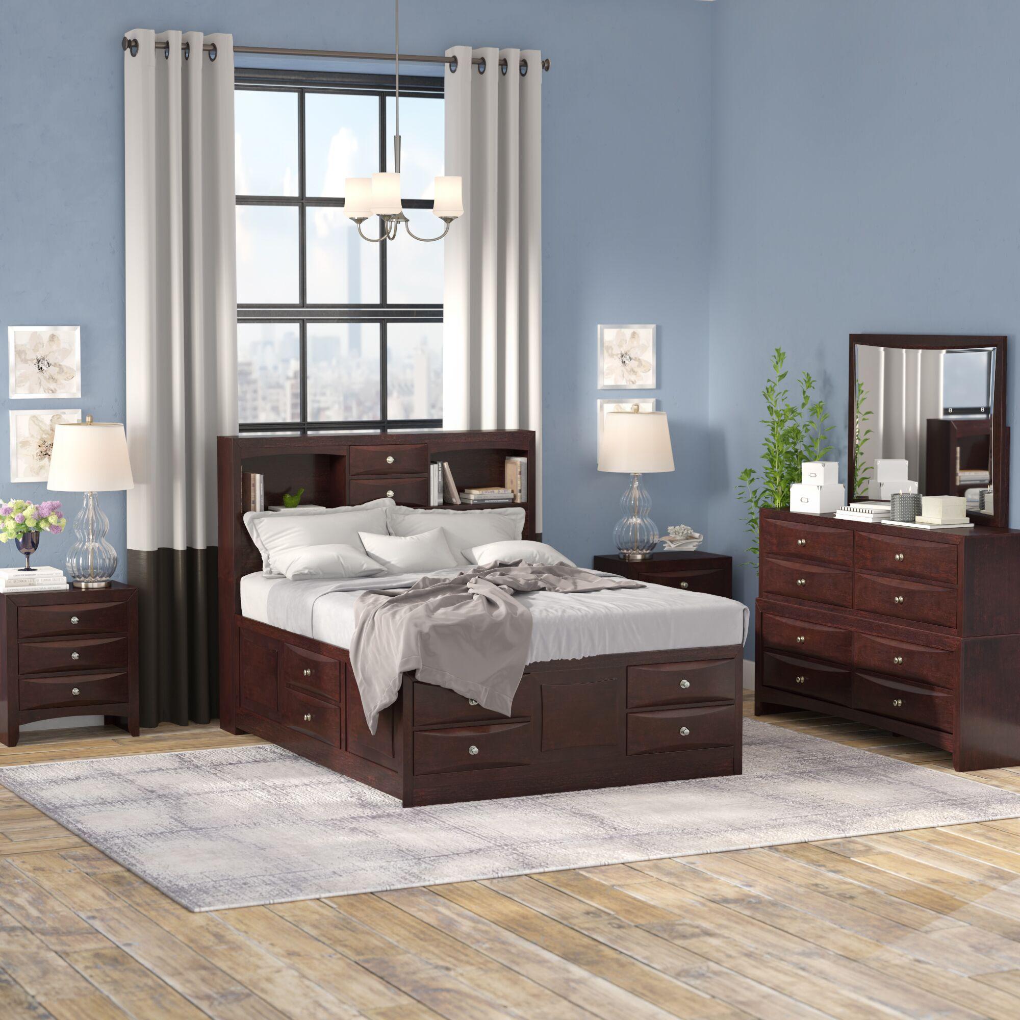 Oreland Platform 5 Piece Espresso Bedroom Set Size: Queen