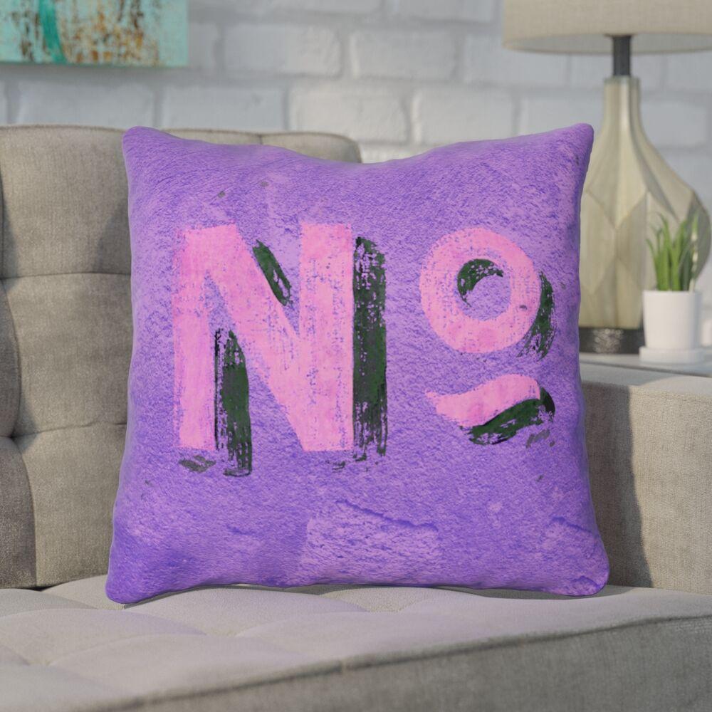 Enciso Graphic Wall 100% Cotton Throw Pillow Size: 14