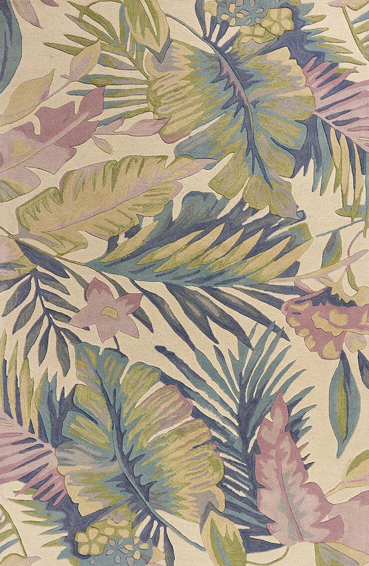 Remington Tropics Hand-Tufted Wool Green/Pink Area Rug Rug Size: Runner 2'6
