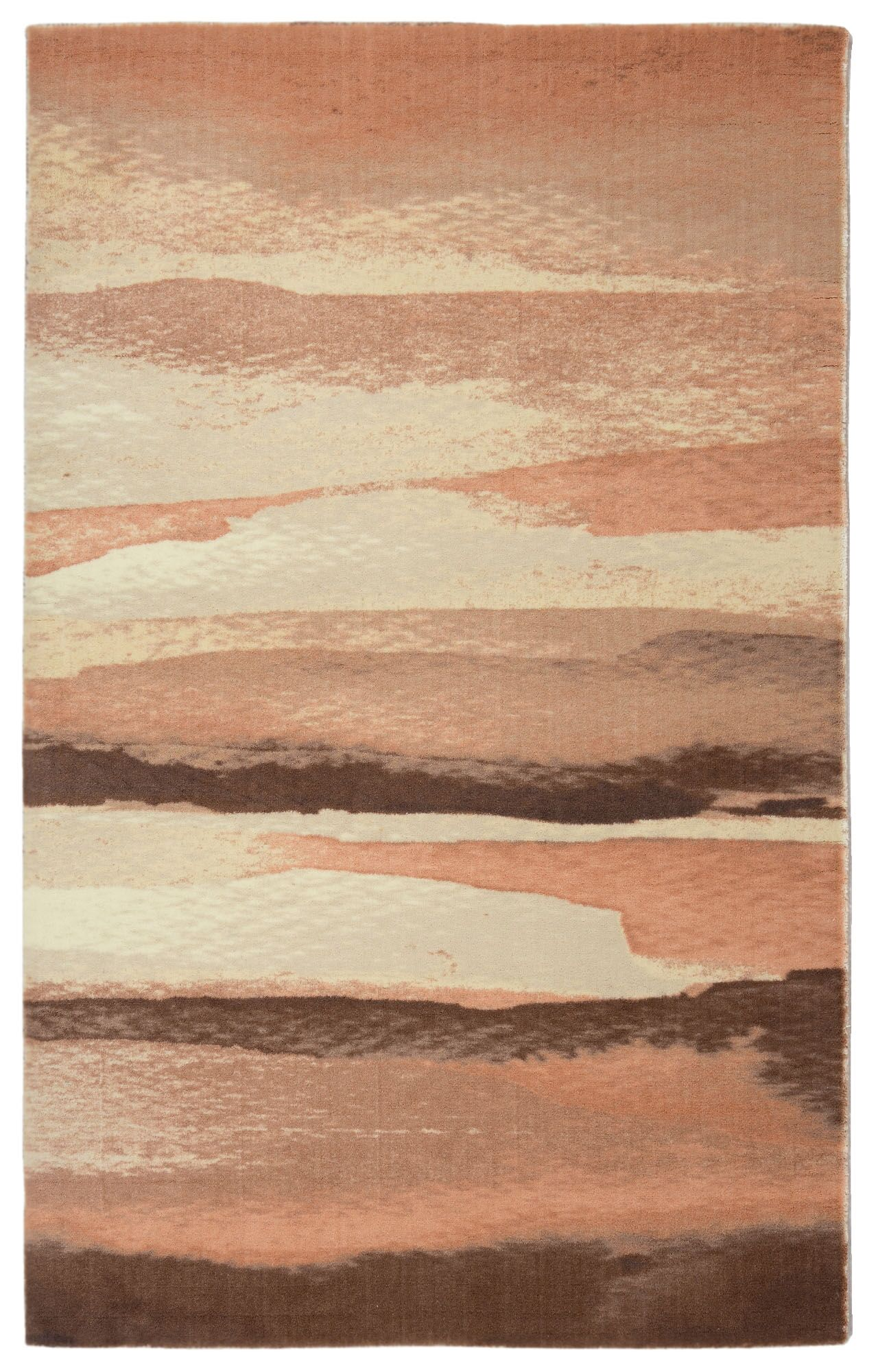 Labombard Contemporary Modern Beige/Peach Area Rug Rug Size: Rectangle 7'6