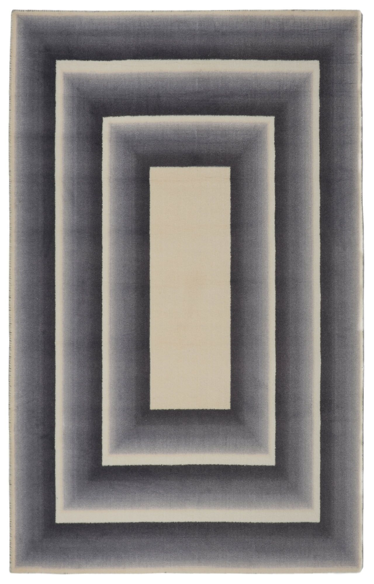 Glenmore Frame Modern Geometric Gray/Beige Area Rug Rug Size: Rectangle 5'6