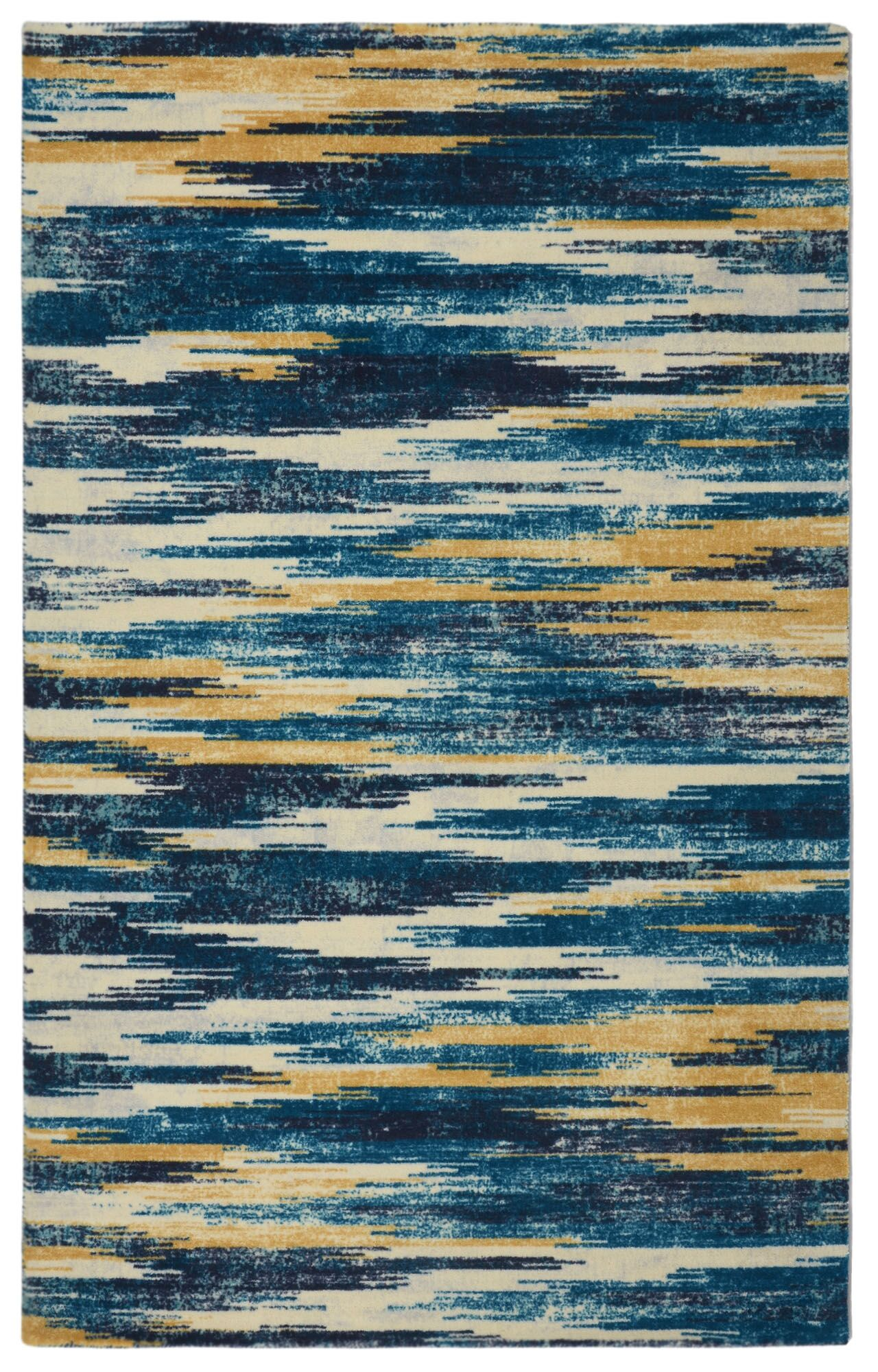 Victorine Slash Modern Bohemian Blue Area Rug Rug Size: Rectangle 5' x 7'