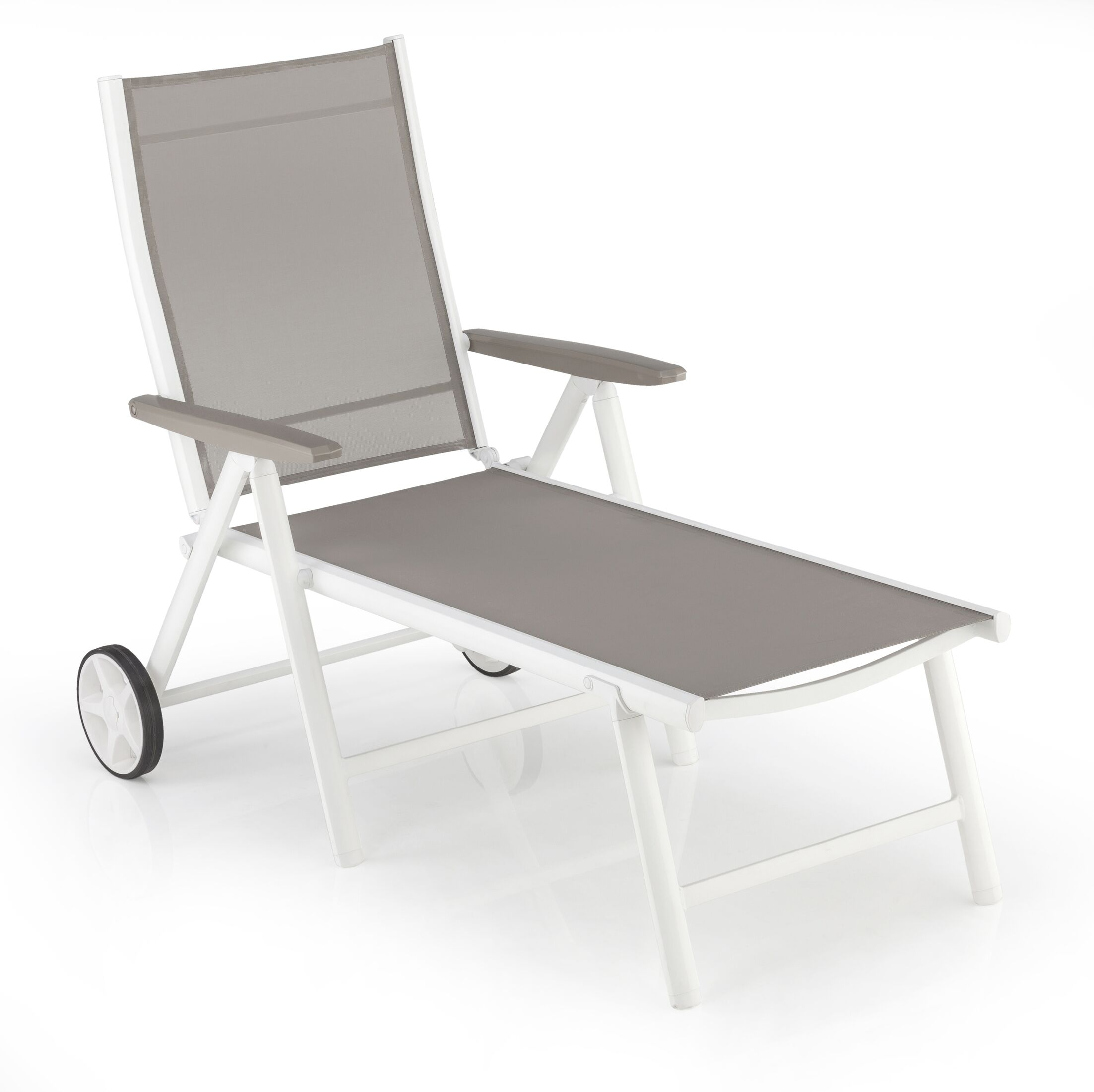 Cotner Reclining Chaise Lounge with Wheels