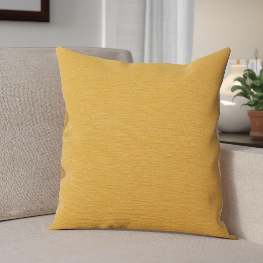 Danin Modern Outdoor Throw Pillow Size: Small, Color: Sunflower