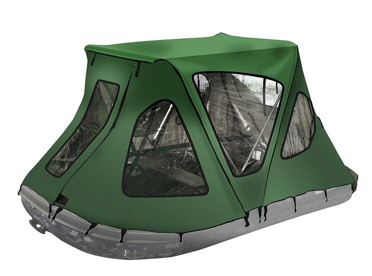 Winter Canopy Boat Rain Sun Wind Snow Waterproof Coveringerson Tent Color: Green
