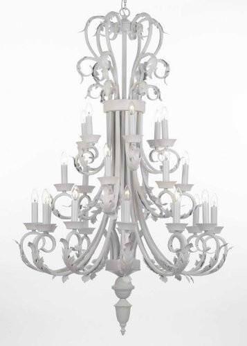 Gisele Foyer Wrought Iron 24-Light Chandelier