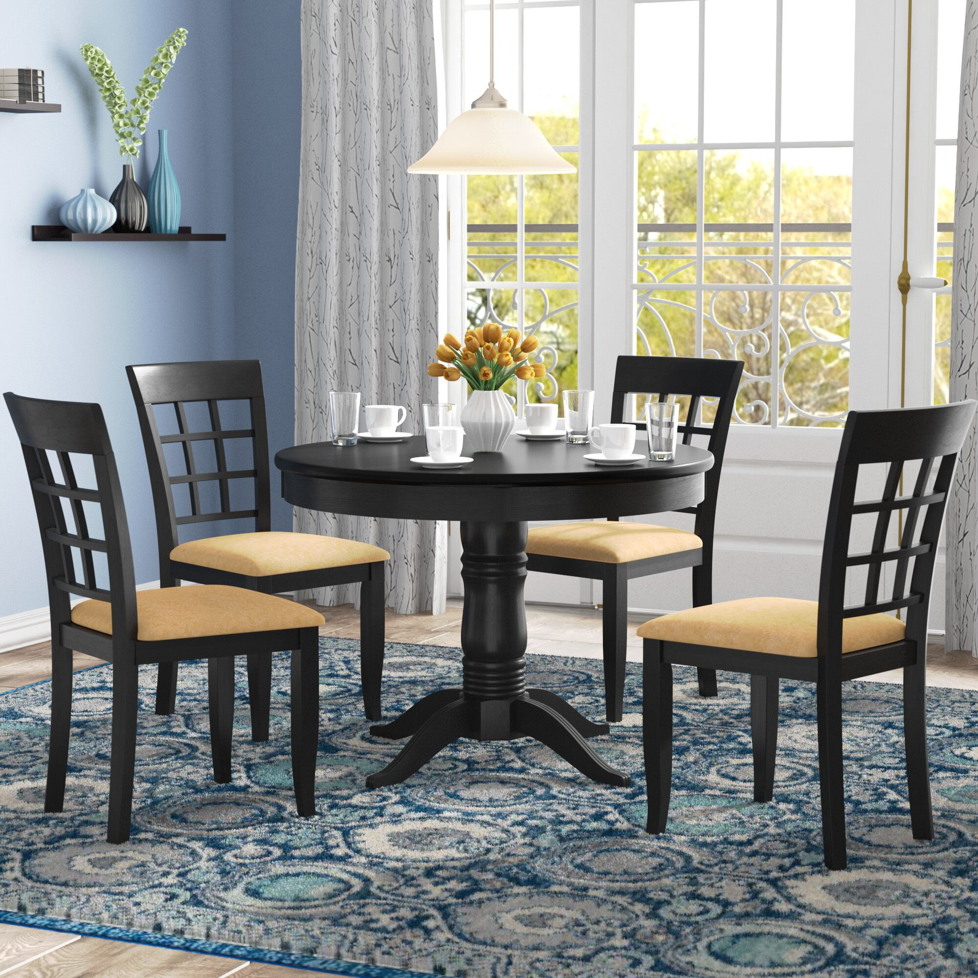 Dining Table Sets Oneill 5 Piece Wood Dining Set